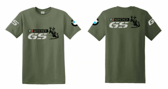 ab5c573ad8 R 1200 GS BMW férfi póló motoros t-shirt színes szürke GS kék-piros ...