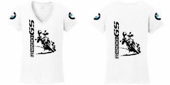 1a02aaaa68 R 1200 GS BMW női póló nagy álló motor motoros t-shirt fehér ...